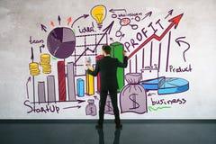 Concetto finanziario di sviluppo Immagini Stock
