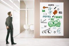 Concetto finanziario di sviluppo Fotografie Stock Libere da Diritti