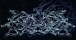 Concetto finanziario futuristico cyber globale di sicurezza della rete Immagine Stock