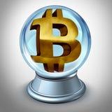Concetto finanziario futuro di Bitcoin Digital illustrazione di stock