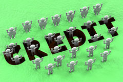 Concetto finanziario - pozzo di credito Fotografia Stock Libera da Diritti