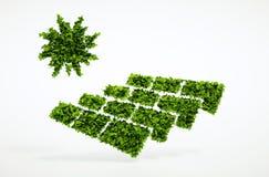 Concetto fotovoltaico di energia di ecologia Fotografie Stock