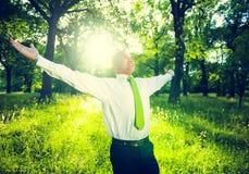 Concetto fresco di successo di verde di rilassamento di affari fotografie stock
