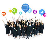 Concetto futuristico degli studenti di laurea di idee Fotografie Stock Libere da Diritti