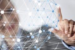 Concetto futuristico del collegamento senza fili Immagine Stock Libera da Diritti