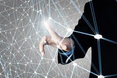 Concetto futuristico del collegamento senza fili Immagini Stock