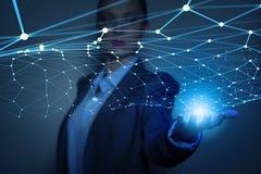 Concetto futuristico del collegamento senza fili Immagini Stock Libere da Diritti