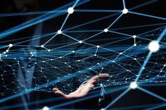 Concetto futuristico del collegamento senza fili Fotografia Stock