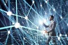 Concetto futuristico del collegamento senza fili Immagine Stock