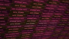 Concetto futuristico di tecnologia del server di Digital - concetto minaccioso V2 del data mining archivi video