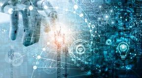 Concetto futuristico di tecnologia, sistemi dati delle innovazioni illustrazione di stock