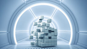 Concetto futuristico di tecnologie Media misti Fotografia Stock