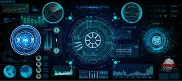 Concetto futuristico HUD, stile del GUI schermo illustrazione vettoriale