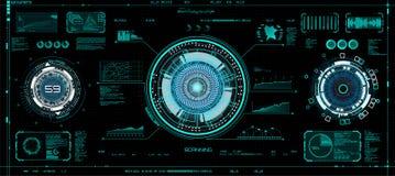 Concetto futuristico HUD, stile del GUI Schermo VR illustrazione di stock