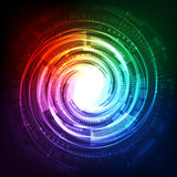 Concetto futuro astratto del fondo di tecnologia, illustrazione di vettore Fotografia Stock Libera da Diritti