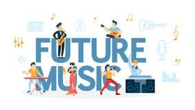 Concetto futuro di musica illustrazione vettoriale