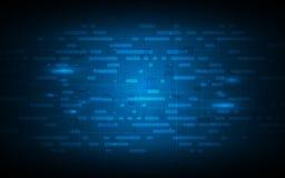 Concetto futuro di tecnologia astratta con Internet del fondo di struttura del modello dell'icona di cose illustrazione vettoriale