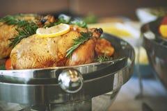 Concetto gastronomico culinario del partito di buffet di cucina di approvvigionamento dell'alimento fotografia stock