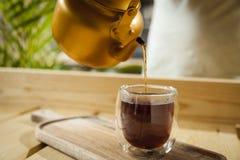 Concetto gastronomico del caffè e del tè fotografia stock libera da diritti