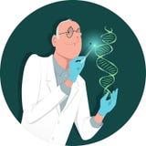 Concetto genetico del DNA isolato su priorità bassa bianca illustrazione vettoriale