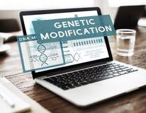 Concetto genetico di chimica di biologia di modifica di mutazione Fotografia Stock Libera da Diritti