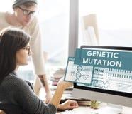 Concetto genetico di chimica di biologia di modifica di mutazione Immagini Stock