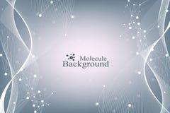 Concetto genetico di ingegneria dell'illustrazione scientifica di vettore e di manipolazione del gene Elica del DNA, filo del DNA illustrazione di stock