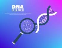 Concetto genetico di sequenziamento del genoma e di ingegneria illustrazione vettoriale