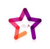 Concetto geometrico di forma dell'estratto della stella di vettore Immagini Stock
