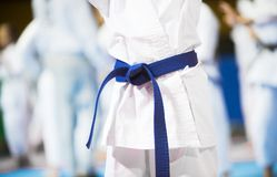 Concetto giapponese di sport e di karatè immagini stock libere da diritti