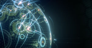 Concetto globale del collegamento Affare dell'IT Internet o rete Collegamenti sociali 4k, 8k, UHD stock footage