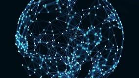 Concetto globale del collegamento di rete sociale illustrazione vettoriale