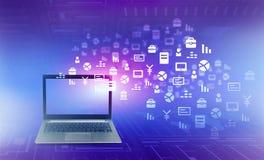 Concetto globale del Internet Immagini Stock