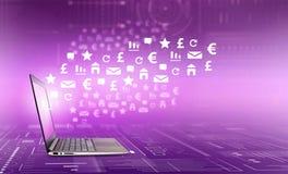 Concetto globale del Internet Immagine Stock