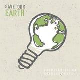 Concetto globale di ecologia Fotografia Stock