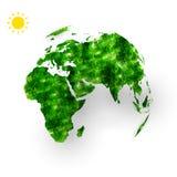 Concetto globale di ecologia della terra Fotografie Stock Libere da Diritti