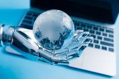 Concetto globale di intelligenza artificiale Fotografia Stock