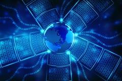 Concetto globale di Internet, comunicazione globale rappresentazione 3d Immagini Stock