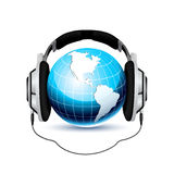 Concetto globale di musica Fotografia Stock