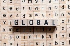 Concetto globale di parola fotografie stock libere da diritti