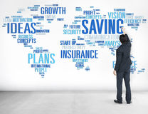 Concetto globale di risparmio di economia mondiale di finanza di finanza fotografia stock
