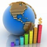 Concetto globale di successo Fotografia Stock Libera da Diritti