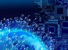 Concetto globale di tecnologia digitale Fotografia Stock