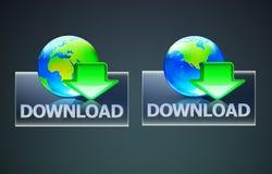 Concetto globale di trasferimento dal sistema centrale verso i satelliti Immagini Stock Libere da Diritti