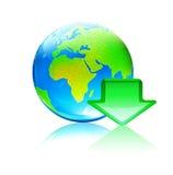 Concetto globale di trasferimento dal sistema centrale verso i satelliti Fotografia Stock Libera da Diritti