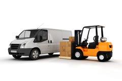 concetto globale di trasporto di carico 3d Fotografia Stock Libera da Diritti