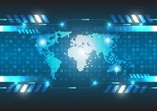 Concetto globale digitale di tecnologia di vettore Fotografia Stock