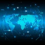 Concetto globale digitale di tecnologia di vettore Immagini Stock