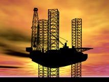 CONCETTO GLOBALE INTERNAZIONALE DELL'INDUSTRIA DEL GAS DEL PETROLIO MARINO Fotografie Stock Libere da Diritti