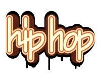 Concetto hip-hop dei graffiti Fotografie Stock Libere da Diritti